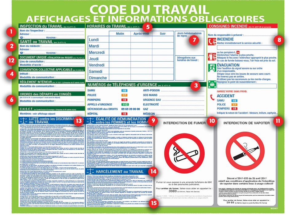 2662 affichage obligatoire entreprise - Tout a l egout obligatoire ...