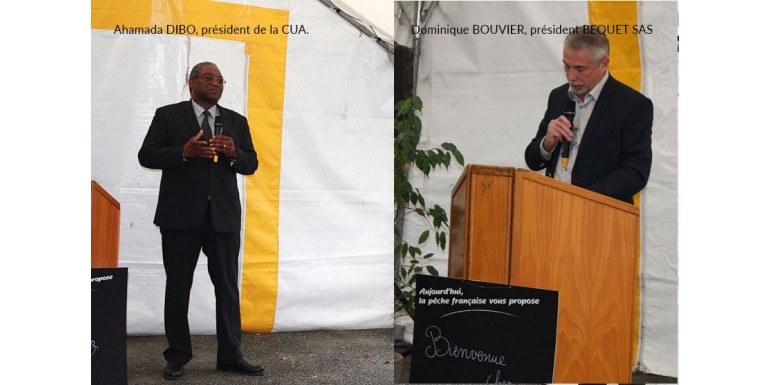 Visite de l'entreprise par des élus de la CUA et des chefs d'entreprise.